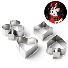 4pcs Poker Style Cookie Molds Cutter Mould Fondant Cake Baking Decorating Tool