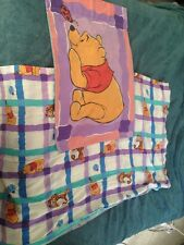 Twin Size Flat Sheet & Matching Standard Pillowcase/Disney Pooh