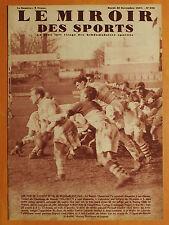 Miroir des Sports 979-30/11/1937-Rugby-Racing Club France-Biarritz Olympiq 25-3