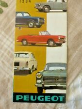 CATALOGUE Peugeot 1964 dépliant sales brochure 403 404 coupé cabriolet D4B  RARE