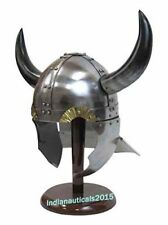 Armor Helmet 18 Gauge Steel Viking Helmet With Buffalo Horns
