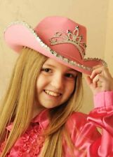Kids Size Pink Sequin Cowgirl Hat with Tiara