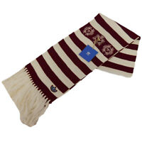 Mens Adidas Originals Striped Warm Winter Scarf  Fashion Soft Neck Warmer Maroon
