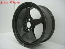15X7 +40 SLIPSTREAM 4X100 GUN METAL WHEEL Fits Integra Civic Yaris Corolla Miata