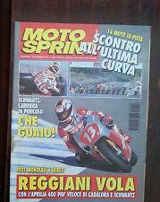 34796 Motosprint a. XX n. 8 1995 - Reggiani con l'Aprilia 400 - Schwantz