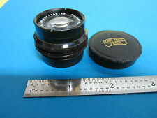 RARE MICROSCOPE OBJECTIVE LENS CARL ZEISS JENA GERMANY PLANAR 4.5X 7.5cm OPTICS