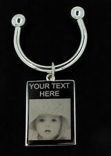 CHRISTMAS GIFT ANY PHOTO/TEXT ENGRAVED KEY RING FREEP&P