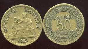 50 centimes chambre de commerce 1927