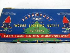 Vintage Paramount Straitline indoor Christmas lighting outfit