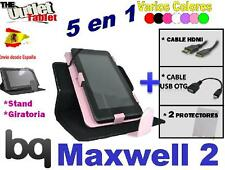 PACK FUNDA 360º TABLET BQ MAXWELL 2 + 2 PROTECTORES + HDMI + USB OTG PLUS LITE