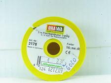 Brawa 3178 / 5 Meter Flachbandkabel 3-polig 0,14 mm² für Fleischmann OVP (y2402)