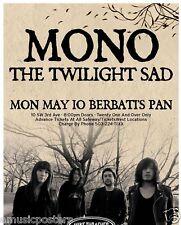 Mono/Twilight Sad 2010 Portland Concert Tour Poster