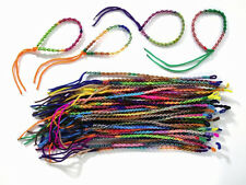 #4431 Fifty Wholesale Lot Tube Rope Friendship Bracelets Assorted School Mix Pac