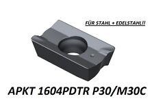 10 x APKT 1604PDTR P30/M30-TIALN-für Stahl + VA  NEU! Mit Rechnung!
