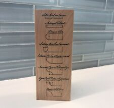 Architecture Mounding Diagram Rubber Baby Buggy Bumpers Wood Mount Rubber Stamp
