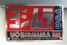 "YOSHIMURA USA Metal 5.5"" 3D Brushed Aluminum Emblem Decal Logo  Fairing Sticker"