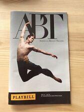 AMERICAN BALLET THEATRE ABT SWAN LAKE PLAYBILL JUNE 13, 2017 MISTY COPELAND NYC