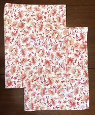 Set of 2 POTTERY BARN 100% Cotton STANDARD Pillow Shams Pair PINK RED FLORAL