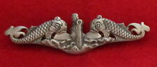 #15 US NAVY SUBMARINE ENLISTED SILVER BADGE PIN ON BACK