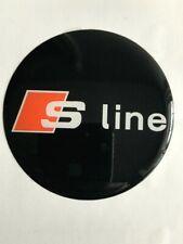 4 x 60mm Silikon S line Aufkleber Embleme Felgen Logo Nabendeckel