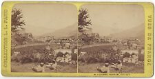 Lourdes France Photo Stéréo Vintage albumine ca 1870
