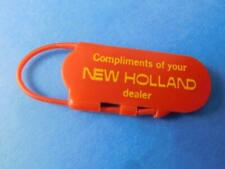 NEW HOLLAND TRACTORS VINTAGE KEY CHAIN FOB COMPLIMENTS OF DEALER