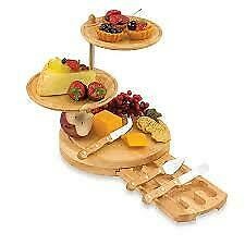 Picnic Time Regalio Three-Tiered Cheese Board/Tool Set
