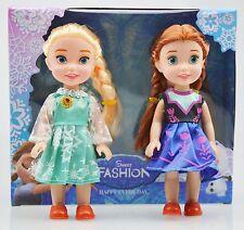 "New Playset Frozen Princess Elsa&Anna& 7"" Doll Figures 2PCS Birthday Gift !!"