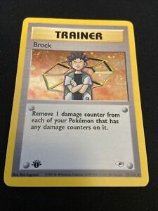Brock 1st Edition Holographic Gym Heroes 15/132 Holo