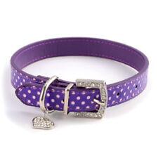 Articles violet pour petits chiens en cuir pour chien