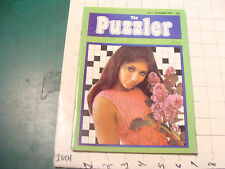vintage HIGH GRADE mag:  THE PUZZLER #2 Dec 1972, 36pgs, VERY SCARCE London mag