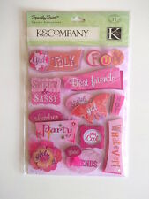 K&CO SPARKLY SWEET GRAND ADHESIONS -  SASSY GIRL