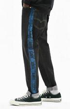 NEW Levi's Levis 33x30 Premium Hi Ball Roll Logo Striped Jeans Warp Stretch