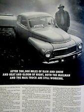 """1955 Volvo 544  Mail Truck Don Ferrin Chico Ca. 1961 Original Print Ad 8.5 x 11"""""""