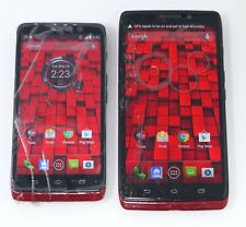 Lot of 2 Working Cracked Motorola Droid Mini / Droid Maxx Verizon Smartphones