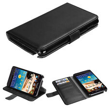 BK Leather Wallet Card Holder Case Cover Flip Pouch for SAMSUNG Galaxy Note i717