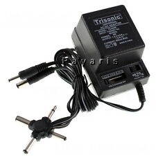 AC DC Universal Power Adapter output 1.5V to 12V 6 Plugs Selection 110-220V Volt