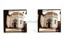 Florence Firenze ? Italie Italia Plaque stéréo Positive Vintage