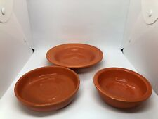 3 Vintage Fiesta Fiestaware Radioactive Red Orange Bowls