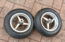MINI MOTO POCKET BIKE WHEELS TYRES SET PAIR FRONT 90/65-6.5 REAR 110/50-6.5 49cc