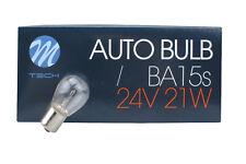 10x Birne/Lampe Kugel 24V 21W / P21W / BA15s