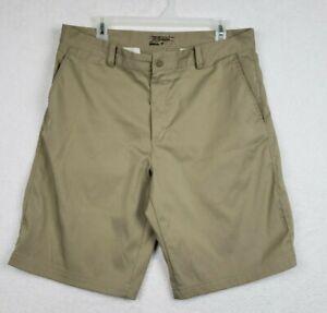 Nike Golf Tour Performance Dri-Fit  Men's Shorts Tan Size 34 Chino