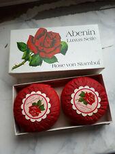Abenin 2 Luxus Seifen in Originalverpackung Rose von Stambul Dachbodenfund