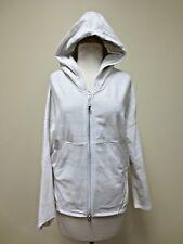 LULULEMON Off White Zip Front Jacket Cardigan Sweater Hoodie  Sz 4 EUC