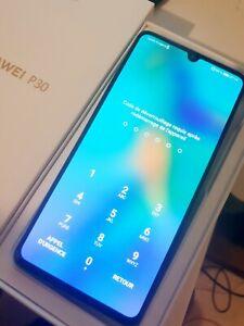 Huawei P30 ELE-L29 - 128 Go - Aurora (Désimlocké) (6 Go RAM) + Boite accessoires