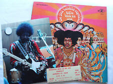 Hendrix Original Woodstock Ticket_Axis Bold As Love 2Tone Lp_Photo_Nice Lot!