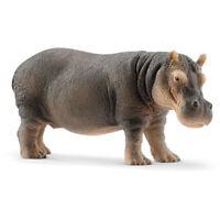 Schleich - Hippopotamus NEW Small Toy Figure Wild Animal model # 14814