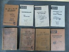 Large Lot Caterpillar Heavy Equipment 8 Repair & Operation-parts Manuals