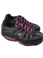 NEW Skechers Shape Ups Walking Fitness Shoes 12340 Grey Black Pink Women's US8.5