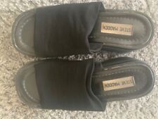 VTG RARE Steve Madden slinky womens 7 Black platform sandals 90s slide